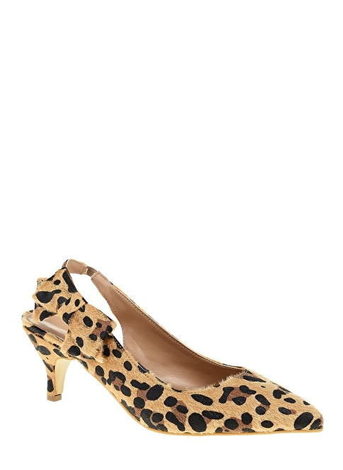 D by Divarese Kısa Topuklu Ayakkabı Leopar